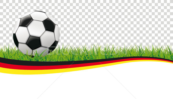 Football Grass Header Germany Transparent Stock photo © limbi007