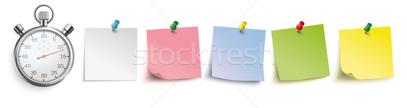 Colored Sticks With Pins Header Stopwatch Stock photo © limbi007