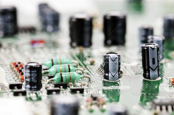 Devre kartı bileşenler teknoloji sanayi bilim dijital Stok fotoğraf © limpido