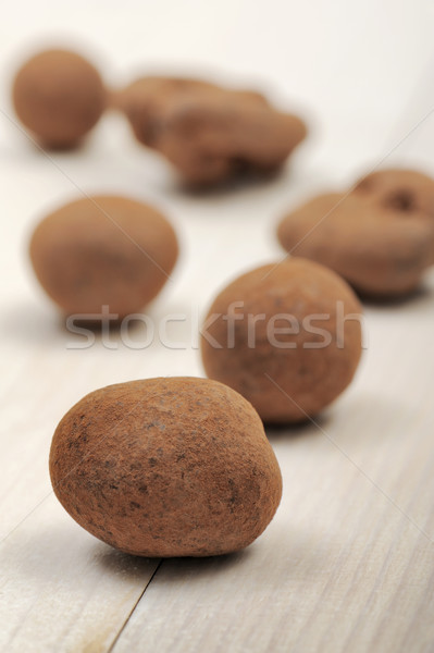Stok fotoğraf: Kapalı · ahşap · masa · gıda · çikolata · tatil · tatlı