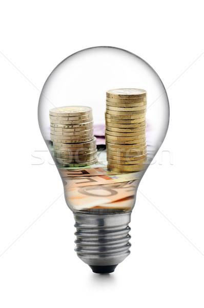 Enerji ampul para yalıtılmış beyaz Stok fotoğraf © limpido