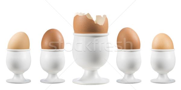 卵 エッグカップ 壊れた 1 白 ストックフォト © limpido