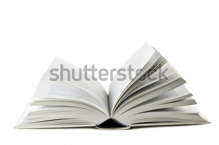 Kitap açık kitap beyaz kâğıt okul arka plan Stok fotoğraf © limpido