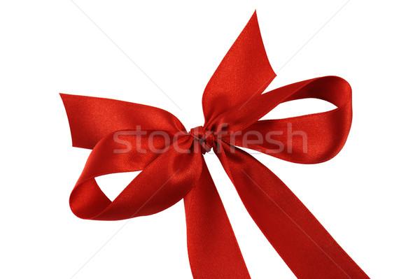 Yay yalıtılmış beyaz kutu kırmızı Stok fotoğraf © limpido