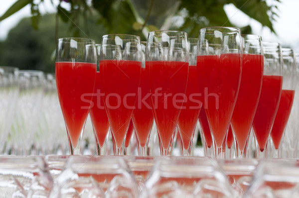 Toplantı cam restoran içmek kırmızı alkol Stok fotoğraf © limpido
