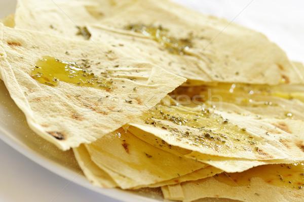 Сток-фото: хлеб · оливкового · масла · специи · типичный · продовольствие · обеда