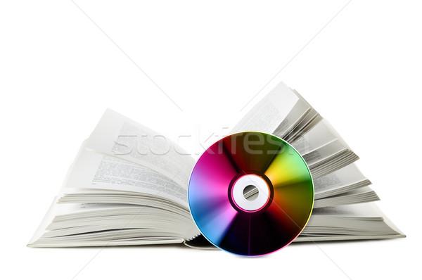 Dijital açık kitap kompakt disk beyaz teknoloji Stok fotoğraf © limpido