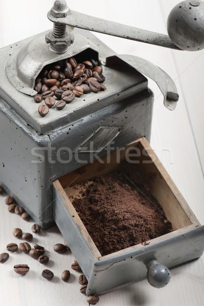 кофе старые кофе землю деревянный стол Сток-фото © limpido