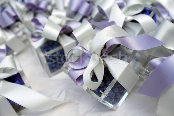 Düğün tablo şeker evlilik sunmak şerit Stok fotoğraf © limpido