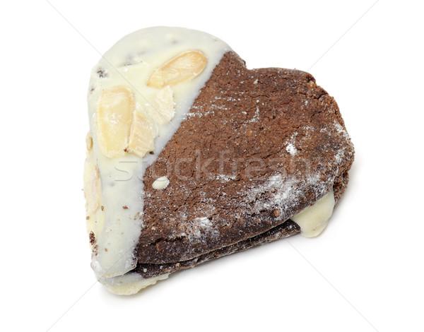 Csokoládé keksz desszert friss édes cukor Stock fotó © limpido