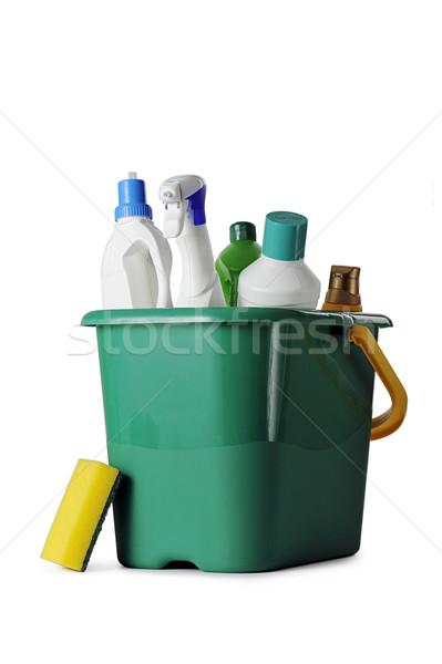 Produtos de limpeza branco garrafa banheiro escove químico Foto stock © limpido