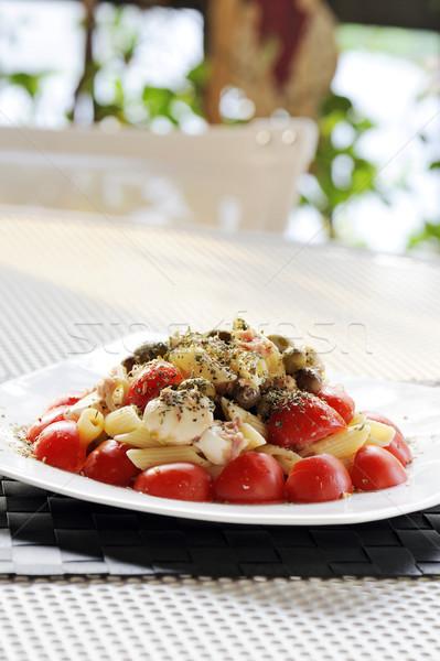 пасты Салат помидоров моцарелла оливкового таблице Сток-фото © limpido