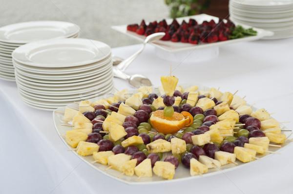 Vruchten buffet tabel vruchten partij dienst Stockfoto © limpido