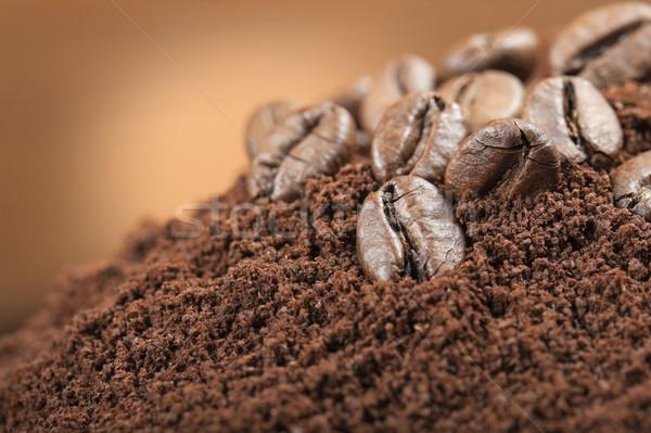 Kahve kahve çekirdekleri tohum doğal kahvehane Stok fotoğraf © limpido
