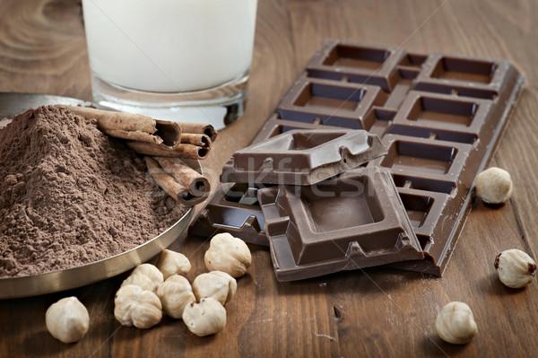 Сток-фото: шоколадом · Ингредиенты · корицей · орехи