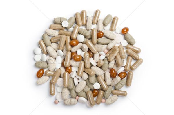 Tabletták választék egészség fehér beteg törődés Stock fotó © limpido