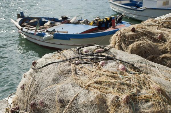 Balık tutma balık yaz mavi sanayi Stok fotoğraf © limpido