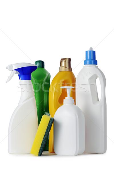 Takarítószerek fehér segítség szolgáltatás padló takarítás Stock fotó © limpido