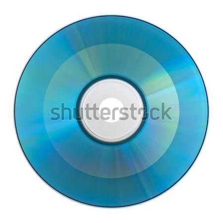 Сток-фото: компактный · диск · изолированный · белый · музыку · технологий