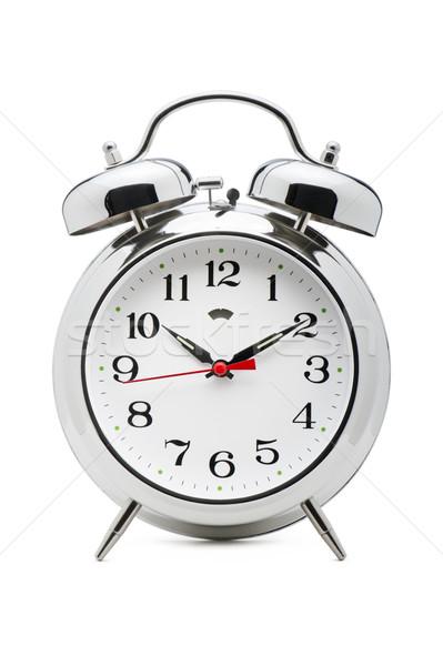 çalar saat klasik beyaz Retro renk bağbozumu Stok fotoğraf © limpido