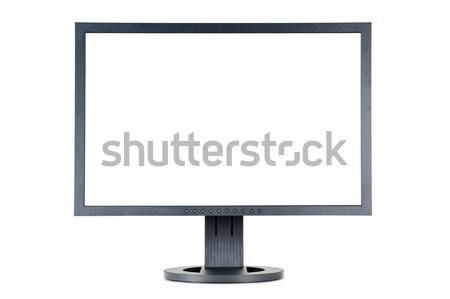 Izlemek lcd bilgisayar monitörü beyaz ekran yalıtılmış Stok fotoğraf © limpido