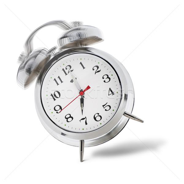 çalar saat klasik Retro renk bağbozumu beyaz Stok fotoğraf © limpido
