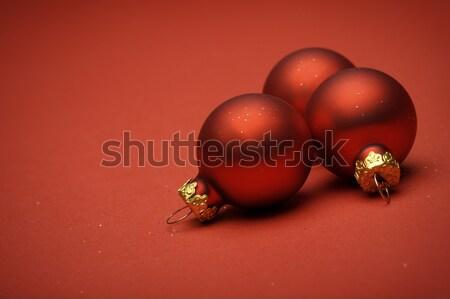 Рождества красный стекла украшение сезон Сток-фото © limpido