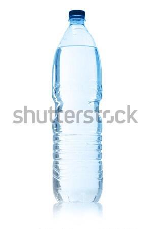 Maden suyu beyaz mavi temizlemek plastik Stok fotoğraf © limpido
