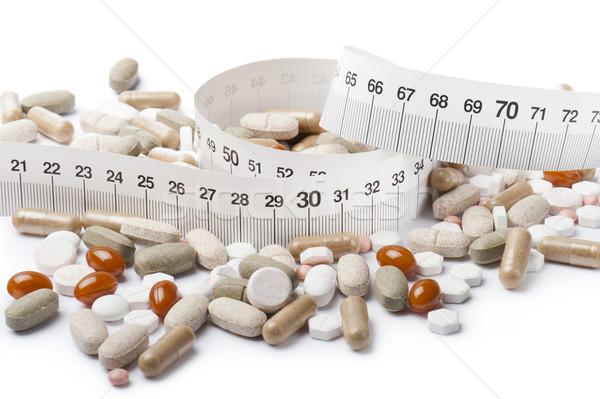 Vitamin kapsül diyet hapları arka plan Stok fotoğraf © limpido