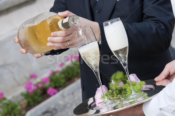 Tost şampanya düğün parti şarap Stok fotoğraf © limpido
