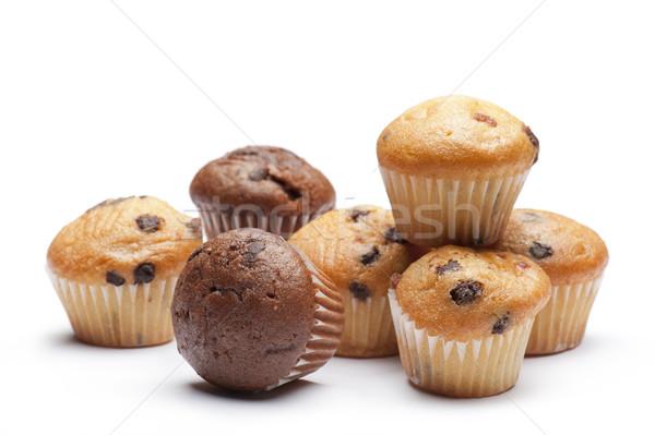 çörek küçük beyaz gıda çikolata Stok fotoğraf © limpido