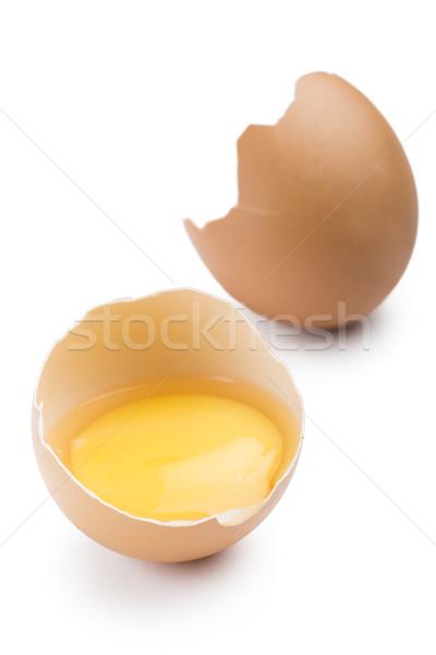 Açmak yumurta yumurta sarısı beyaz gıda arka plan Stok fotoğraf © limpido