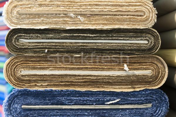 Renkli pamuk yün tekstil depolamak Stok fotoğraf © limpido