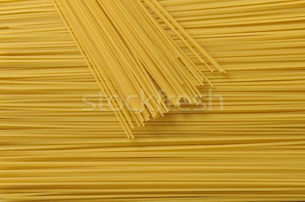 Makarna spagetti arka plan sarı taze Stok fotoğraf © limpido