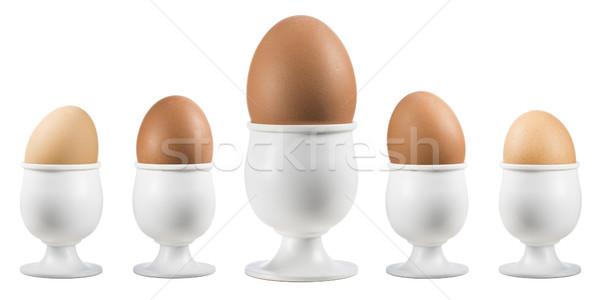 卵 エッグカップ 白 背景 ストックフォト © limpido