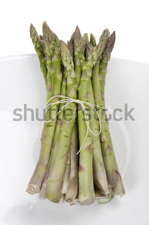 Kuşkonmaz yalıtılmış beyaz gıda bitki Stok fotoğraf © limpido