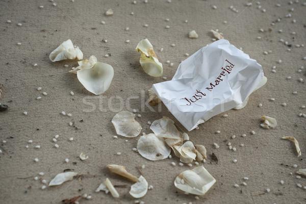 Küçük pirinç düğün töreni kâğıt Stok fotoğraf © limpido