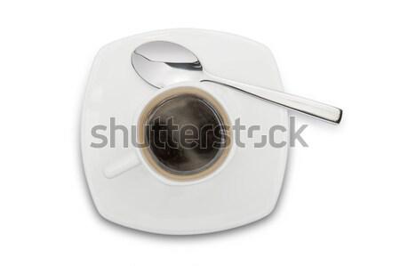 Kahve fincanı fincan kahve beyaz arka plan içmek Stok fotoğraf © limpido