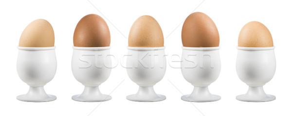 卵 エッグカップ 白 背景 鳥 ストックフォト © limpido