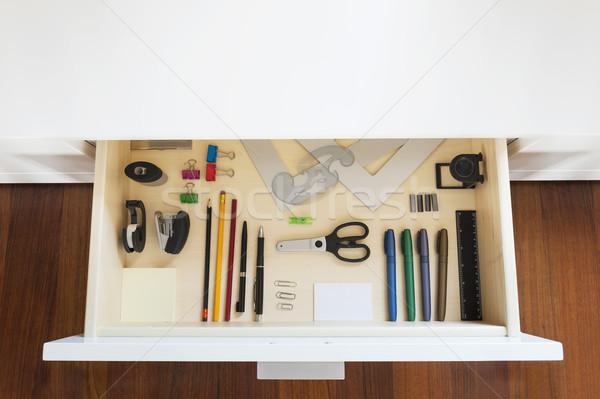 Araçları çizim ofis kâğıt Stok fotoğraf © limpido