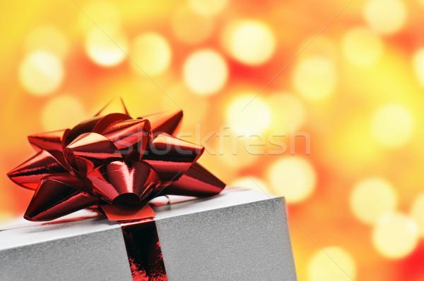 Hediye kutusu yay parlak sevmek doğum günü Stok fotoğraf © limpido