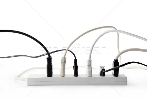 власти технологий кабеля промышленных энергии белый Сток-фото © limpido
