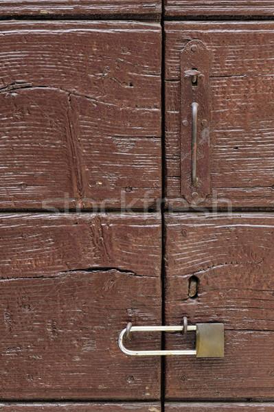 Сток-фото: двери · старые · блокировка · дома · домой
