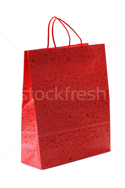 Сток-фото: красный · корзина · украшения · изолированный · белый