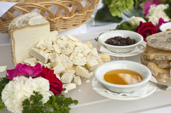 Stok fotoğraf: Peynir · büfe · tablo · bal · reçel · parti
