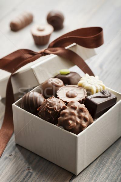 кондитерские изделия шкатулке шоколадом окна праздник Sweet Сток-фото © limpido