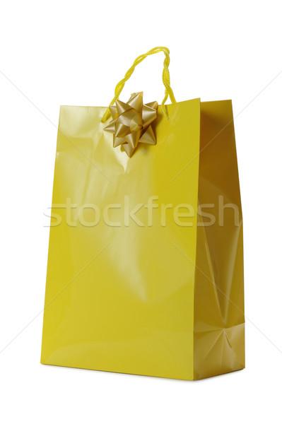 желтый корзина лук белый фон Сток-фото © limpido