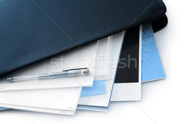 Сток-фото: документы · служба · черный · папке · бизнеса · бумаги