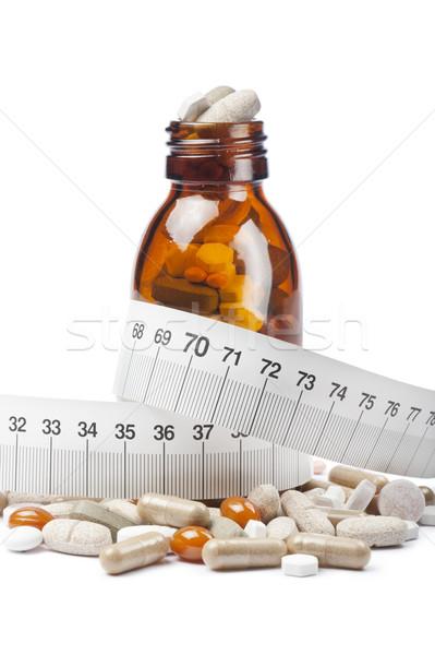 таблетки капсулы диета бутылку фон химии Сток-фото © limpido