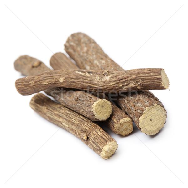 Lukrecja korzeń biały słodkie naturalnych Zdjęcia stock © limpido